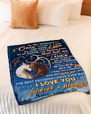 """BL10071 - To My Husband Once Upon A Time Small Fleece Blanket - 30"""" x 40"""" aos-coral-fleece-blanket-30x40-lifestyle-front-01"""