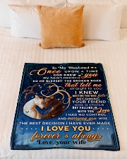 """BL10071 - To My Husband Once Upon A Time Small Fleece Blanket - 30"""" x 40"""" aos-coral-fleece-blanket-30x40-lifestyle-front-04"""