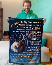 """BL10071 - To My Husband Once Upon A Time Small Fleece Blanket - 30"""" x 40"""" aos-coral-fleece-blanket-30x40-lifestyle-front-09"""