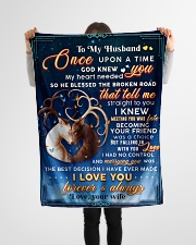 """BL10071 - To My Husband Once Upon A Time Small Fleece Blanket - 30"""" x 40"""" aos-coral-fleece-blanket-30x40-lifestyle-front-14"""