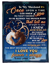 """BL10071 - To My Husband Once Upon A Time Small Fleece Blanket - 30"""" x 40"""" front"""