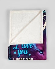 """BL10056N - To My Grace Dad Letter Small Fleece Blanket - 30"""" x 40"""" aos-coral-fleece-blanket-30x40-lifestyle-front-17"""