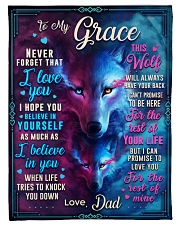 """BL10056N - To My Grace Dad Letter Small Fleece Blanket - 30"""" x 40"""" front"""