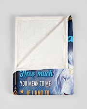 """BL10048P - To My Daughter Dad Letter-Personalized Small Fleece Blanket - 30"""" x 40"""" aos-coral-fleece-blanket-30x40-lifestyle-front-17"""