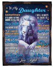 """BL10048P - To My Daughter Dad Letter-Personalized Small Fleece Blanket - 30"""" x 40"""" front"""