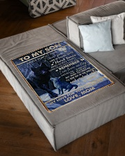 """FBC10044 - To My Son Never Forget That Small Fleece Blanket - 30"""" x 40"""" aos-coral-fleece-blanket-30x40-lifestyle-front-03"""