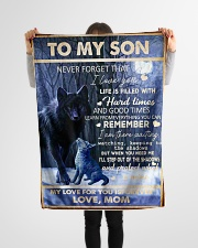 """FBC10044 - To My Son Never Forget That Small Fleece Blanket - 30"""" x 40"""" aos-coral-fleece-blanket-30x40-lifestyle-front-14"""