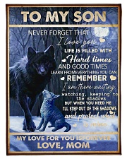 """FBC10044 - To My Son Never Forget That Small Fleece Blanket - 30"""" x 40"""" front"""