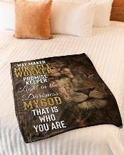 "JES10091BL - Jesus Way Maker Miracle Worker Small Fleece Blanket - 30"" x 40"" aos-coral-fleece-blanket-30x40-lifestyle-front-01"