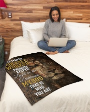 "JES10091BL - Jesus Way Maker Miracle Worker Small Fleece Blanket - 30"" x 40"" aos-coral-fleece-blanket-30x40-lifestyle-front-08"