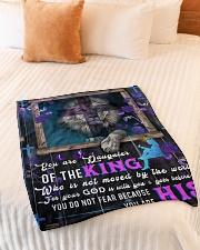 "JES10052BL - Jesus Christ  Small Fleece Blanket - 30"" x 40"" aos-coral-fleece-blanket-30x40-lifestyle-front-01"