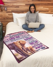 """BL10076 - To My Daughter Mom Letter Elephant Small Fleece Blanket - 30"""" x 40"""" aos-coral-fleece-blanket-30x40-lifestyle-front-08"""