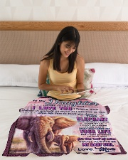 """BL10076 - To My Daughter Mom Letter Elephant Small Fleece Blanket - 30"""" x 40"""" aos-coral-fleece-blanket-30x40-lifestyle-front-12"""