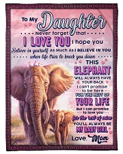 """BL10076 - To My Daughter Mom Letter Elephant Small Fleece Blanket - 30"""" x 40"""" front"""