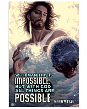 JES10003PT - Jesus Christ All Things Are Possible 11x17 Poster front