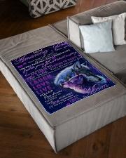 "FBC10028 - Amazing Son Wolfs Small Fleece Blanket - 30"" x 40"" aos-coral-fleece-blanket-30x40-lifestyle-front-03"