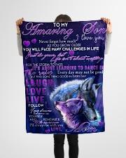 "FBC10028 - Amazing Son Wolfs Small Fleece Blanket - 30"" x 40"" aos-coral-fleece-blanket-30x40-lifestyle-front-14"
