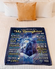 """JES10060BL -  A Prayer For Daughter Small Fleece Blanket - 30"""" x 40"""" aos-coral-fleece-blanket-30x40-lifestyle-front-04"""