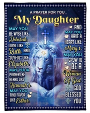 """JES10060BL -  A Prayer For Daughter Small Fleece Blanket - 30"""" x 40"""" front"""