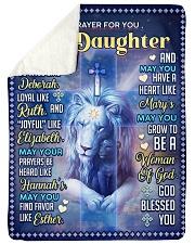 JES10060BL -  A Prayer For Daughter Sherpa Fleece Blanket tile