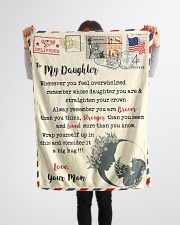 """FBL10023 To My Daughter Mom Letter Family Small Fleece Blanket - 30"""" x 40"""" aos-coral-fleece-blanket-30x40-lifestyle-front-14"""