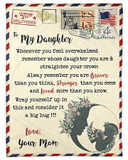 """FBL10023 To My Daughter Mom Letter Family Small Fleece Blanket - 30"""" x 40"""" front"""