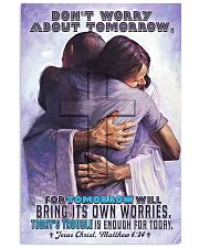 JES10032PT - Jesus Christ Don't Worry Tomorrow 11x17 Poster front
