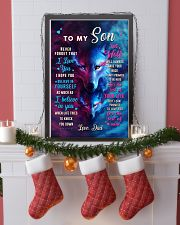 CV10024 - To My Son Dad Letter Wolf 11x17 Poster lifestyle-holiday-poster-4