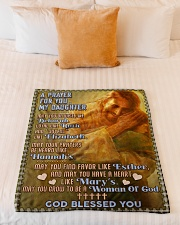 """JES10056BL -  A Prayer For Daughter Small Fleece Blanket - 30"""" x 40"""" aos-coral-fleece-blanket-30x40-lifestyle-front-04"""