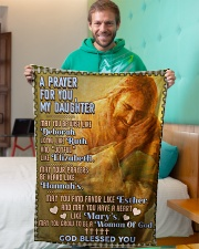 """JES10056BL -  A Prayer For Daughter Small Fleece Blanket - 30"""" x 40"""" aos-coral-fleece-blanket-30x40-lifestyle-front-09"""