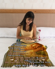 """JES10056BL -  A Prayer For Daughter Small Fleece Blanket - 30"""" x 40"""" aos-coral-fleece-blanket-30x40-lifestyle-front-12"""