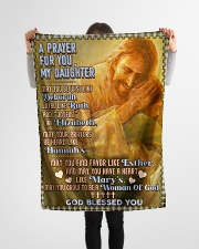 """JES10056BL -  A Prayer For Daughter Small Fleece Blanket - 30"""" x 40"""" aos-coral-fleece-blanket-30x40-lifestyle-front-14"""