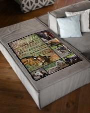 "FBC10024 - Daughter Horses Small Fleece Blanket - 30"" x 40"" aos-coral-fleece-blanket-30x40-lifestyle-front-03"