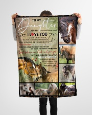 "FBC10024 - Daughter Horses Small Fleece Blanket - 30"" x 40"" aos-coral-fleece-blanket-30x40-lifestyle-front-14"