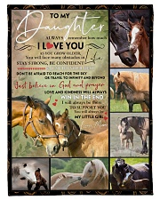 """FBC10024 - Daughter Horses Small Fleece Blanket - 30"""" x 40"""" front"""