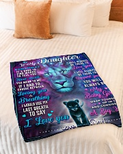 """BL10054 - To My Daughter Lion Dad Letter Small Fleece Blanket - 30"""" x 40"""" aos-coral-fleece-blanket-30x40-lifestyle-front-01"""