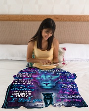 """BL10054 - To My Daughter Lion Dad Letter Small Fleece Blanket - 30"""" x 40"""" aos-coral-fleece-blanket-30x40-lifestyle-front-12"""