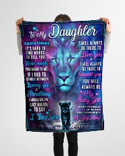 """BL10054 - To My Daughter Lion Dad Letter Small Fleece Blanket - 30"""" x 40"""" aos-coral-fleece-blanket-30x40-lifestyle-front-14"""