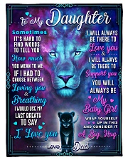 """BL10054 - To My Daughter Lion Dad Letter Small Fleece Blanket - 30"""" x 40"""" front"""