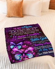 """BL10103 - Mom Butterfly Night Daughter Love Small Fleece Blanket - 30"""" x 40"""" aos-coral-fleece-blanket-30x40-lifestyle-front-01"""