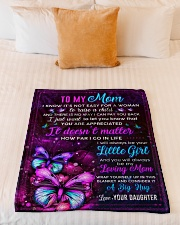 """BL10103 - Mom Butterfly Night Daughter Love Small Fleece Blanket - 30"""" x 40"""" aos-coral-fleece-blanket-30x40-lifestyle-front-04"""