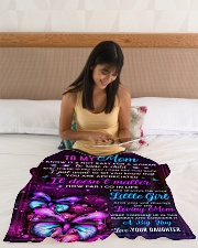 """BL10103 - Mom Butterfly Night Daughter Love Small Fleece Blanket - 30"""" x 40"""" aos-coral-fleece-blanket-30x40-lifestyle-front-12"""