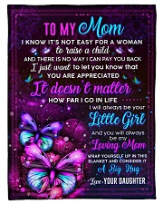 """BL10103 - Mom Butterfly Night Daughter Love Small Fleece Blanket - 30"""" x 40"""" front"""