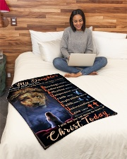 """JES10065BL - Daughter Choose The Beauty Small Fleece Blanket - 30"""" x 40"""" aos-coral-fleece-blanket-30x40-lifestyle-front-08"""