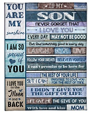 """FBC10032 - To My Son You Are My Sunshine Small Fleece Blanket - 30"""" x 40"""" front"""