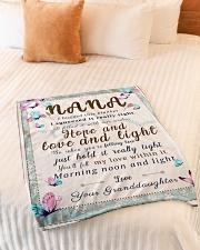 "BL10001 - To Nana Hope Love Light Granddaughter 1 Small Fleece Blanket - 30"" x 40"" aos-coral-fleece-blanket-30x40-lifestyle-front-01"