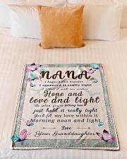 "BL10001 - To Nana Hope Love Light Granddaughter 1 Small Fleece Blanket - 30"" x 40"" aos-coral-fleece-blanket-30x40-lifestyle-front-04"