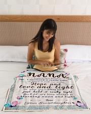 "BL10001 - To Nana Hope Love Light Granddaughter 1 Small Fleece Blanket - 30"" x 40"" aos-coral-fleece-blanket-30x40-lifestyle-front-12"
