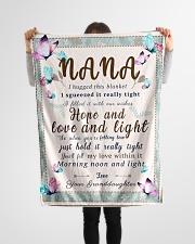 "BL10001 - To Nana Hope Love Light Granddaughter 1 Small Fleece Blanket - 30"" x 40"" aos-coral-fleece-blanket-30x40-lifestyle-front-14"