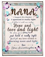 """BL10001 - To Nana Hope Love Light Granddaughter 1 Small Fleece Blanket - 30"""" x 40"""" front"""